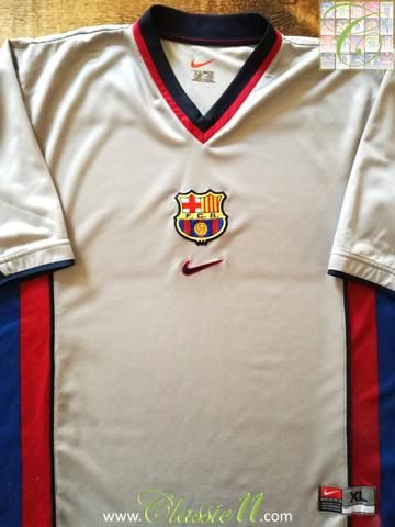 dcccc162a50 Official Nike Barcelona away football shirt from the 1999 2000 season.