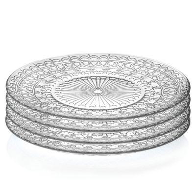 Lorren Home Trends Medici 10 Inch Crystal Dinner Plates Set Of 4 Dinner Plate Sets Home Trends Plate Sets