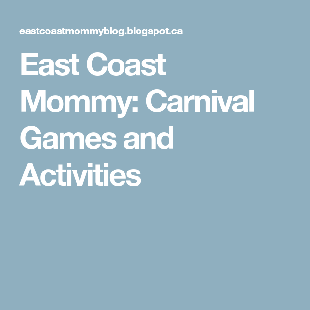 Carnival Games And Activities Carnival Games Carnival Happy