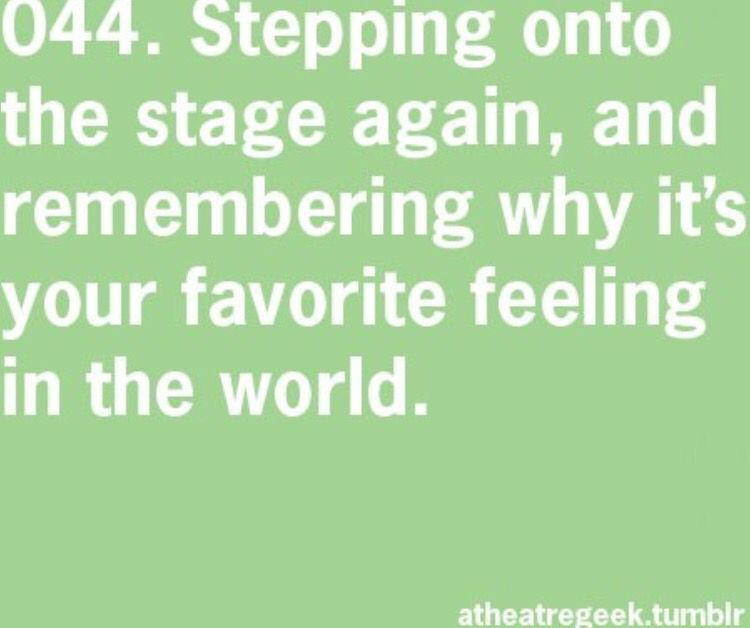 That Is My Favorite Feeling Tgts The Reason I Love Acting And