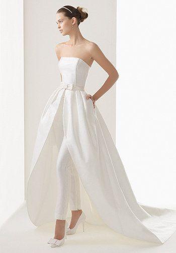Esta versión con cinturón:   36 vestidos de novia de dos piezas ...