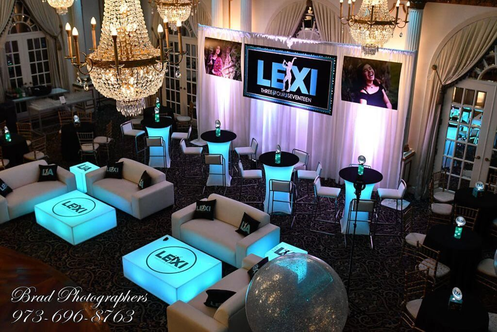 Music Themed Bat Mitzvah With Custom Lounge Setup At Crystal Plaza