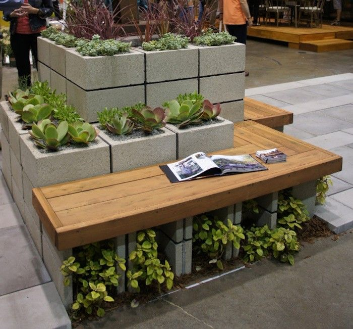 Fabriquer une jardini re en bois jardini re en bois - Jardiniere en parpaing ...