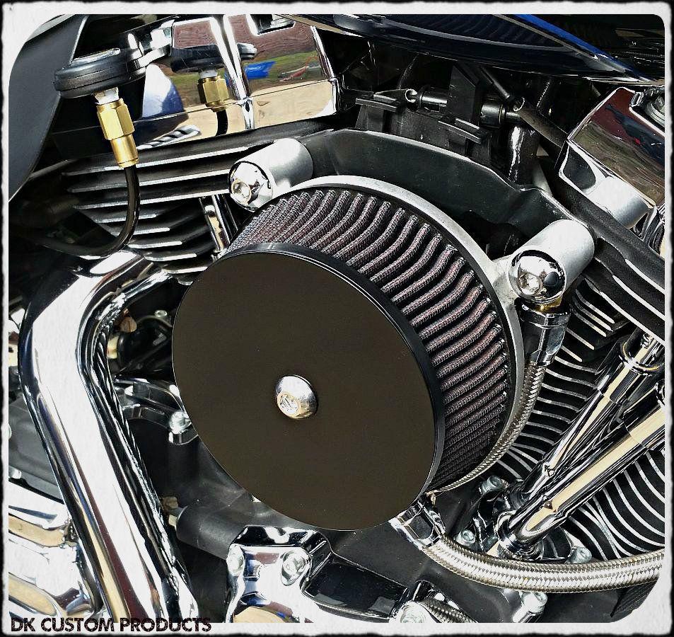 Harley braided hose crankcase head breathers system DK