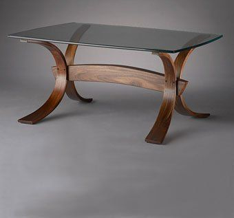 Bent Laminated Coffee Table Splayed Coffee Table Wood Table Legs Coffee Table Wood