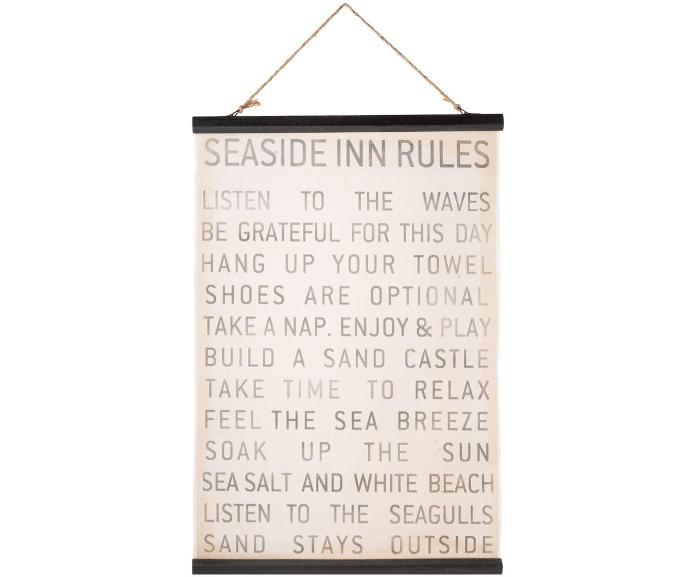 Digitaldruck auf Leinwand Seaside Rules | Bilder für wohnzimmer ...