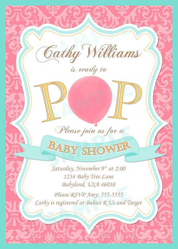 Baby Shower Ready To Pop Invitation Diy