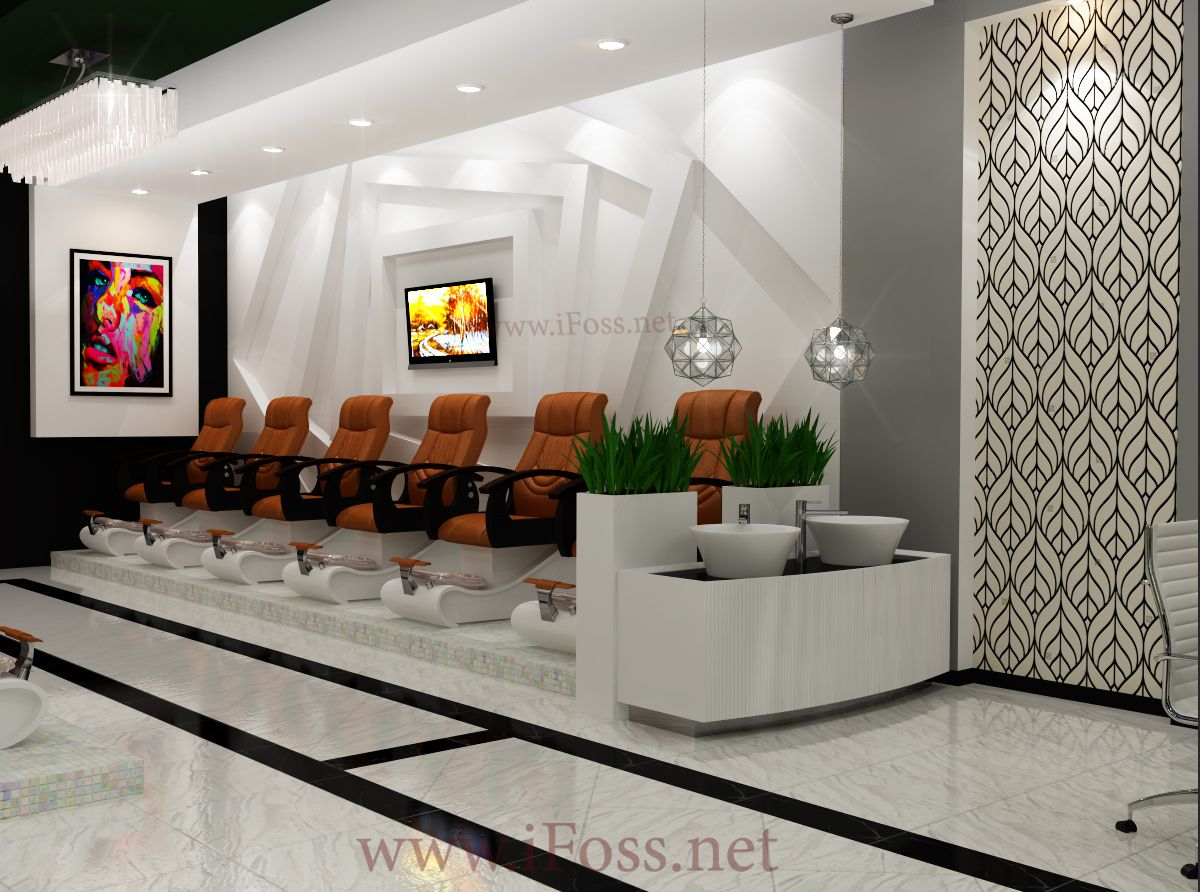 Nail Salon Design After 5-7days, customer will get our layout (see ...