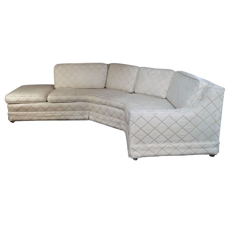 white 1960's sectional sofa....this shape is perfect!