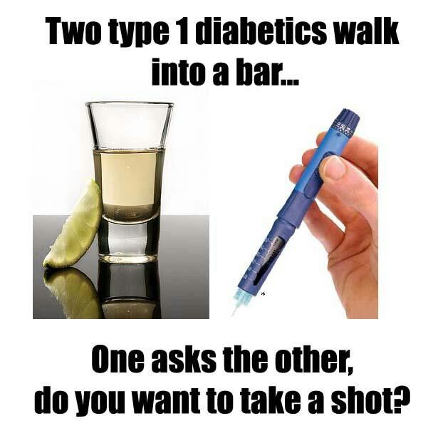 humor de diabetes tipo 1