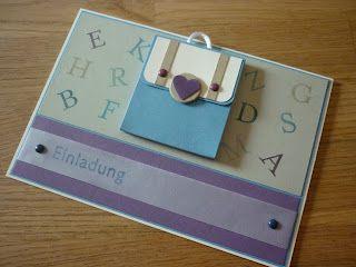 Jenny's Papierwelt: ~ Einladungskarten zum Schulanfang ~