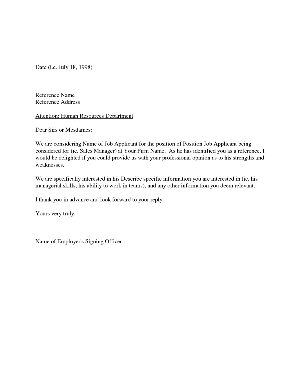 Character Recommendation Letter For Job Thevillas
