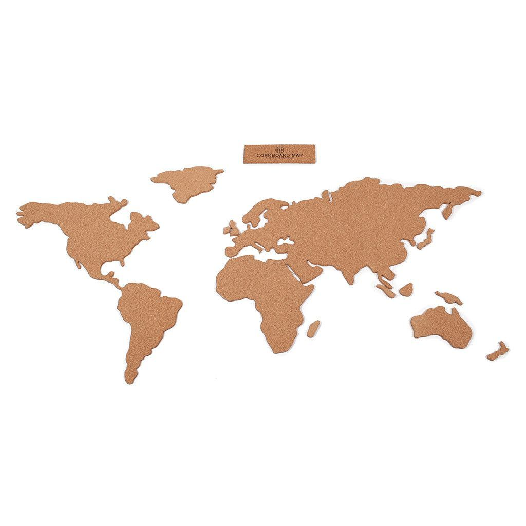Corkboard world map adhesive cork and room ideas corkboard world map gumiabroncs Image collections