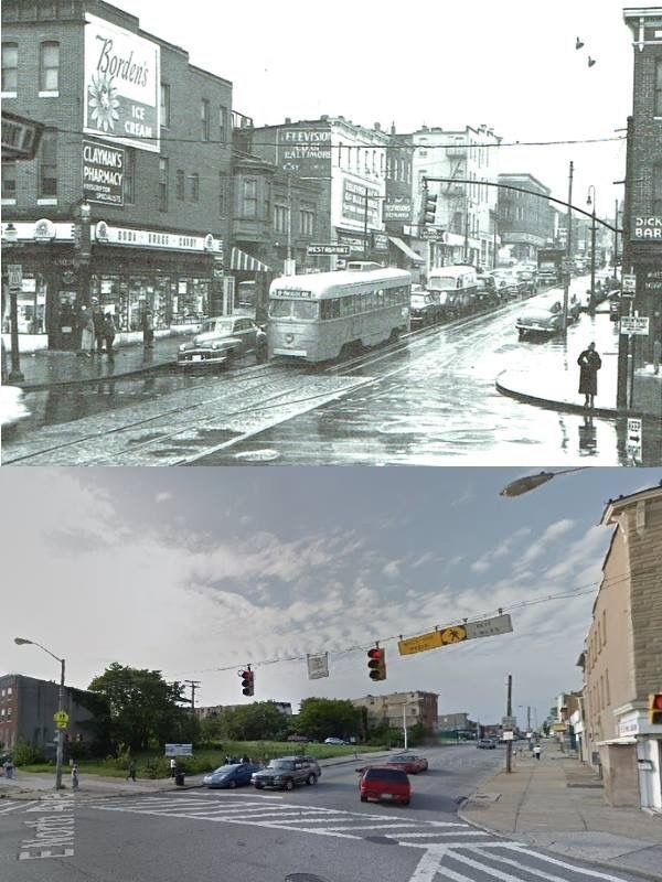 North & Greenmount Streets 1955 & 2015 | Maryland