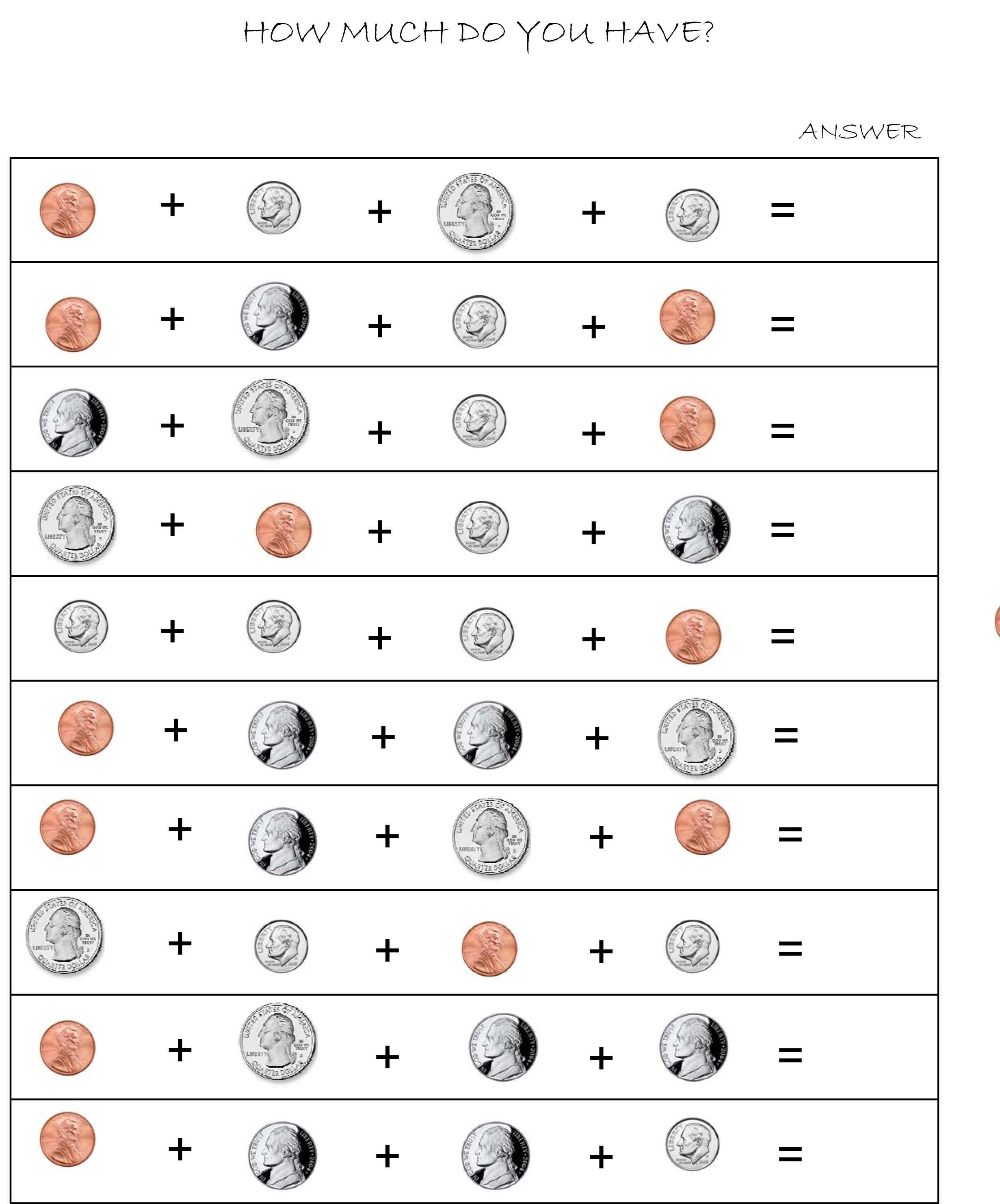 Money Adding Worksheets   Money worksheets [ 2964 x 2462 Pixel ]