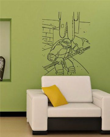 Lego Teenage Mutant Ninja Turtle Michelangelo Children/'s Room Decal Wall Sticker