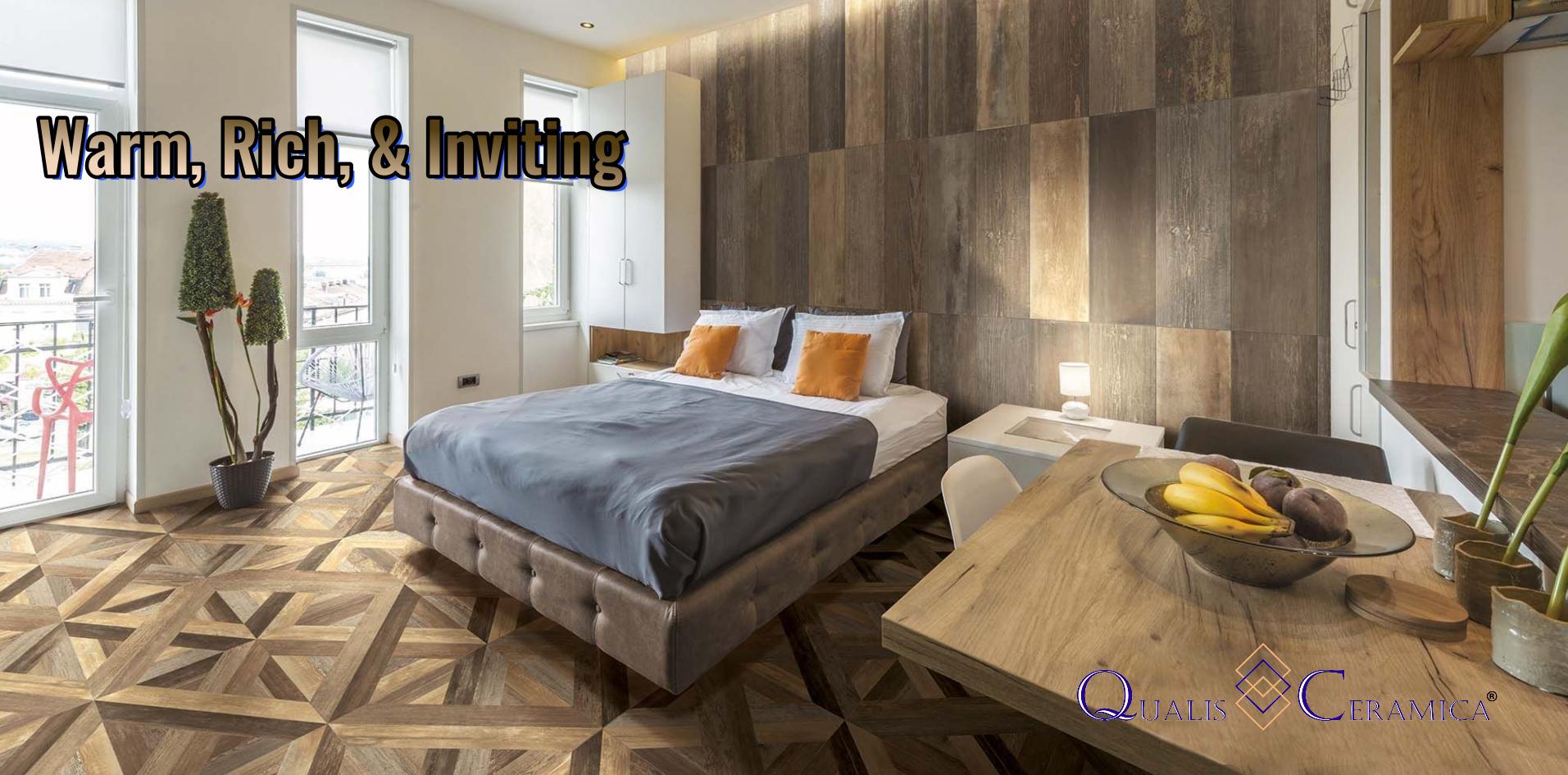 Master Bedroom Floor Tile Idea Qualis Ceramica Highland Aurora Multi Parquet 24x24 9x36 Wall Bedroom Floor Tiles Bedroom Flooring Parquet Design