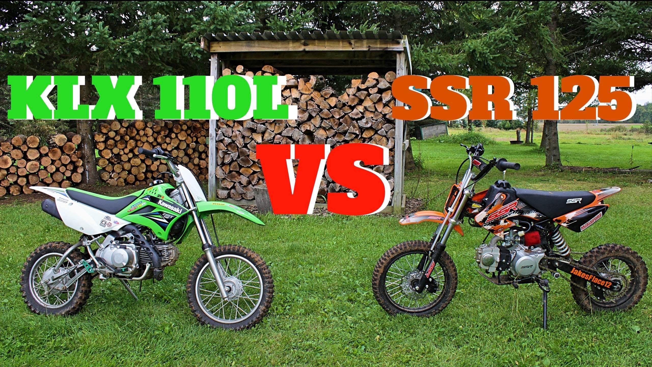 Pit Bike Comparison Ssr 125 Vs Klx110l Pit Bike Bike Dirt