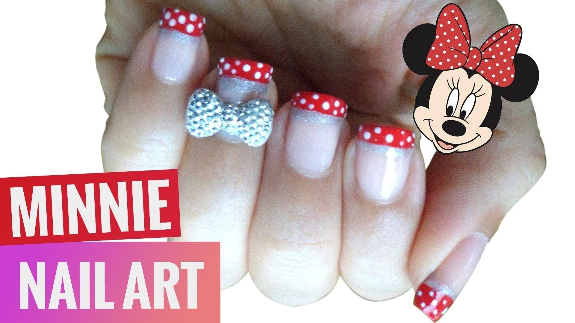 3 D Bow Disney Minnie Nail Art - Spier en Oefeningen