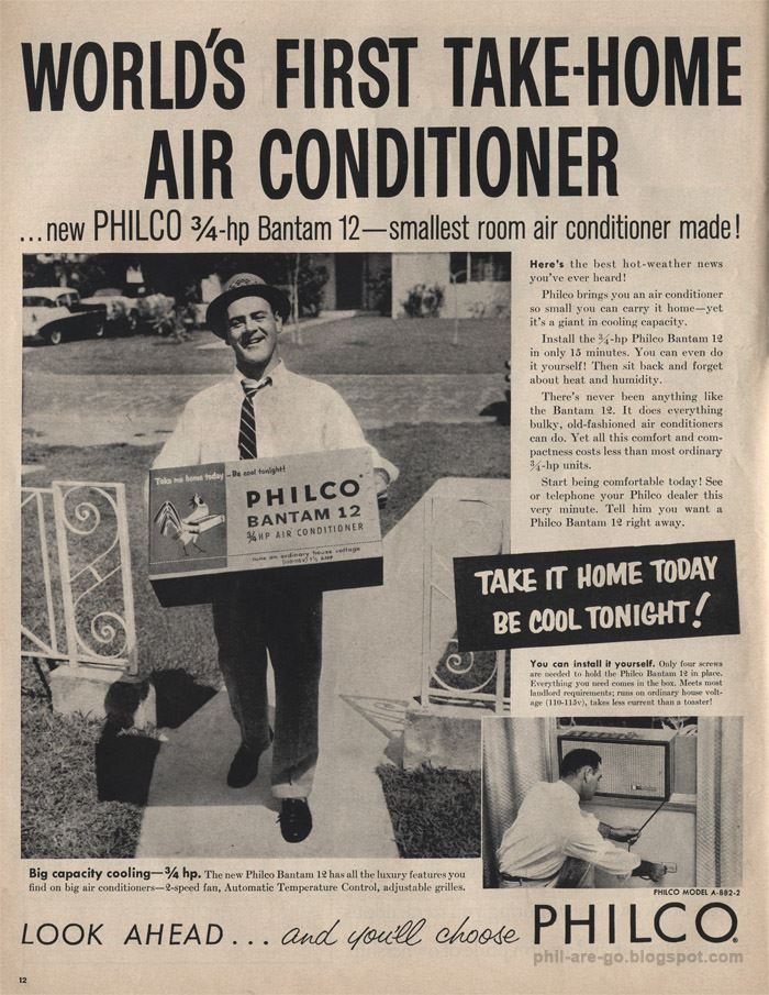 Philco Bantam 12 air conditioner in 2020 Old
