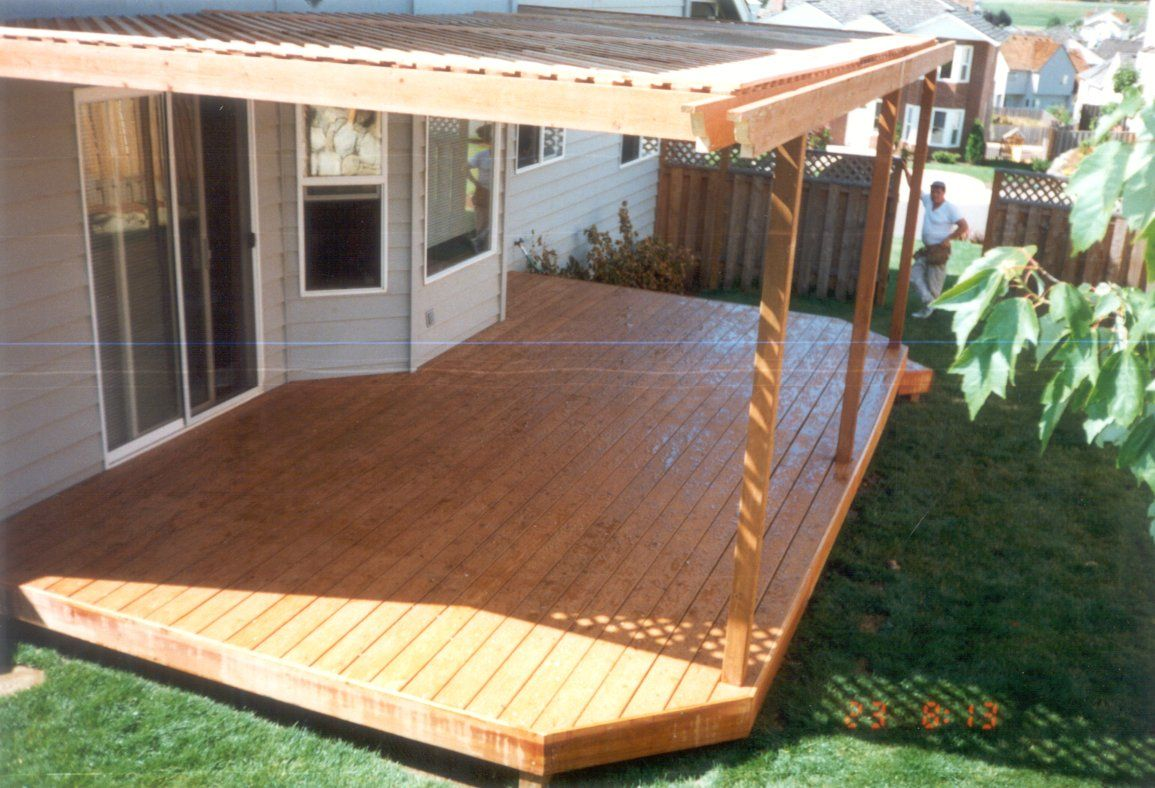 Patio cover designs small small solid patio cover for Deck ideas pinterest