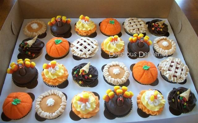 Custom Cupcakes The Pies Ones The Sugar Studio Pinterest - Cupcakes for thanksgiving decorating ideas