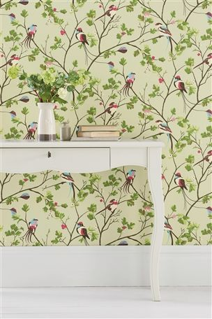 Buy Paste The Wall Natural Leaf Trail Wallpaper from the Next UK ...