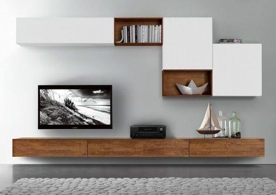 Mooi centraal punt in de woonkamer televisie in