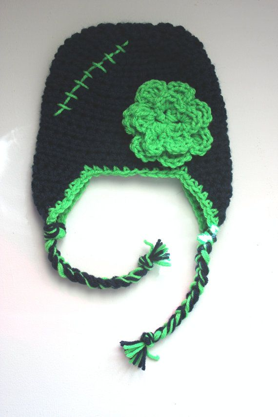 Crochet Seahawks baby girl hat. by SavvyMade on Etsy, $12.50 ...
