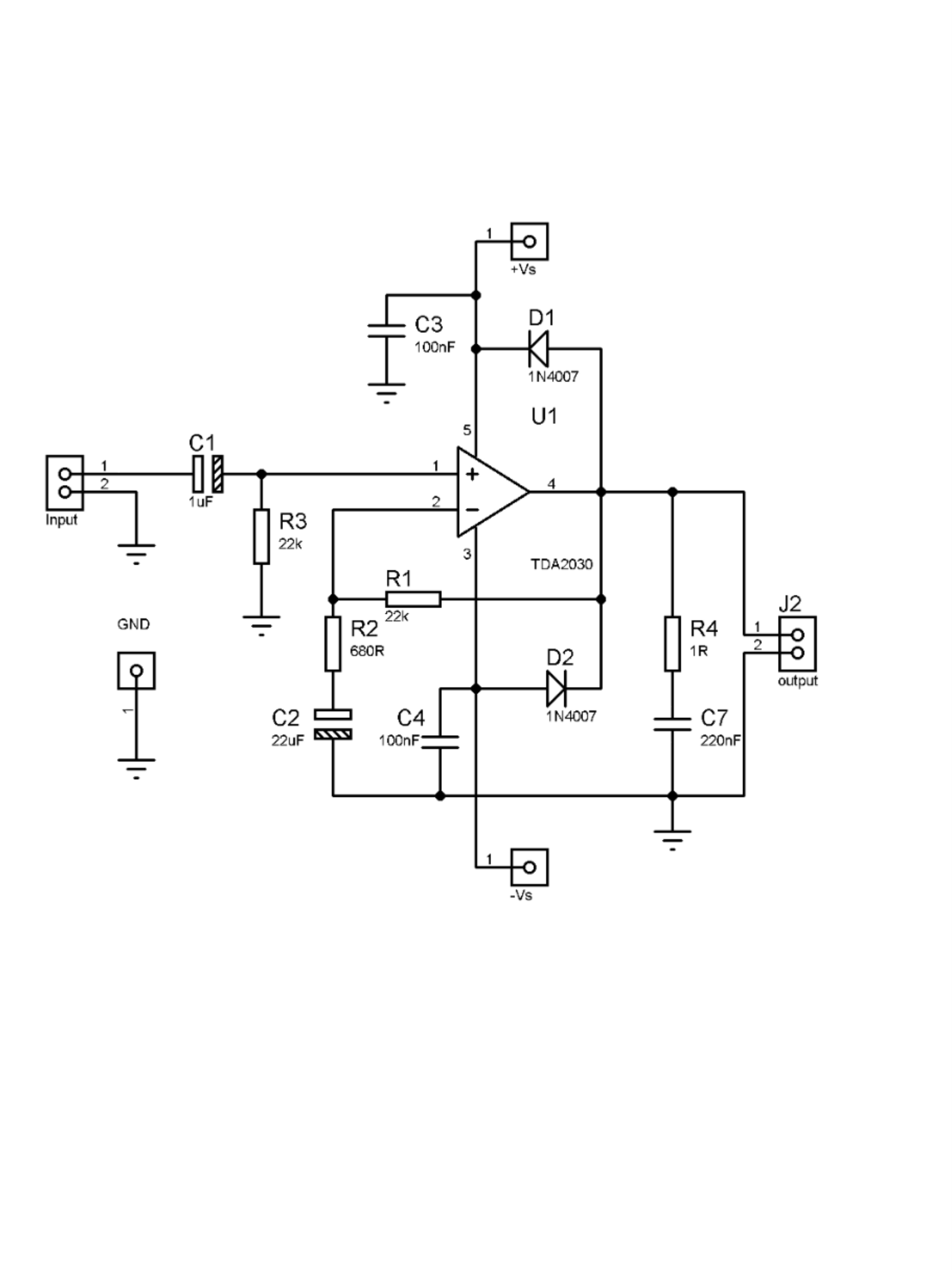 14w Dual power TDA2030 based amplifier with PCB in 2020 ...
