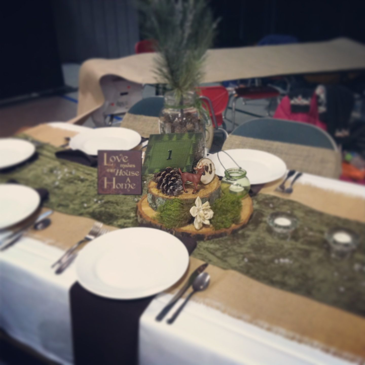 Rustic And Woodsy DIY Wedding Centerpieces :)