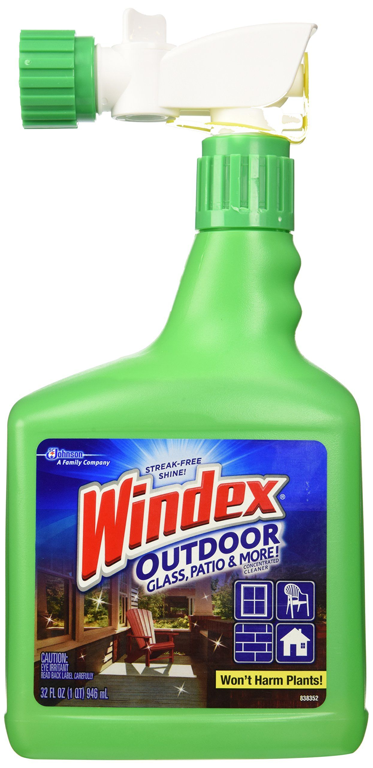 Windex Outdoor Gl Patio Cleaner 32oz Connects To Your Hose For Hard Reach Windows