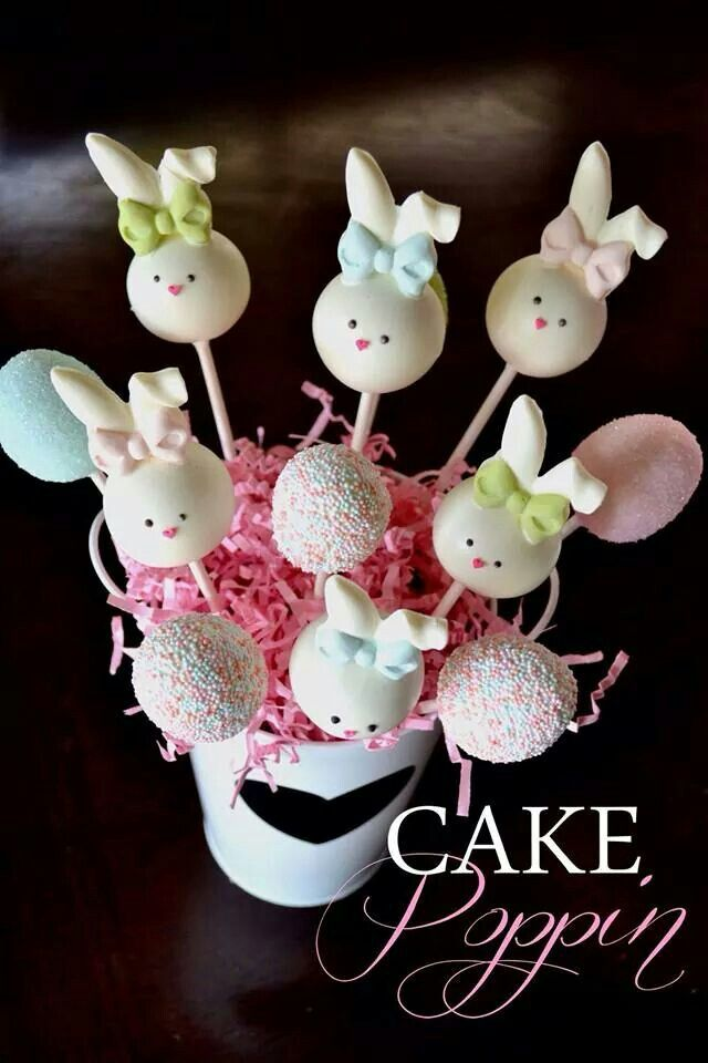Cute bunny pops from Cake Poppin Cake Pop Cuties