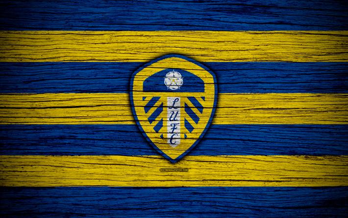 Download Wallpapers Leeds United FC, 4k, EFL Championship