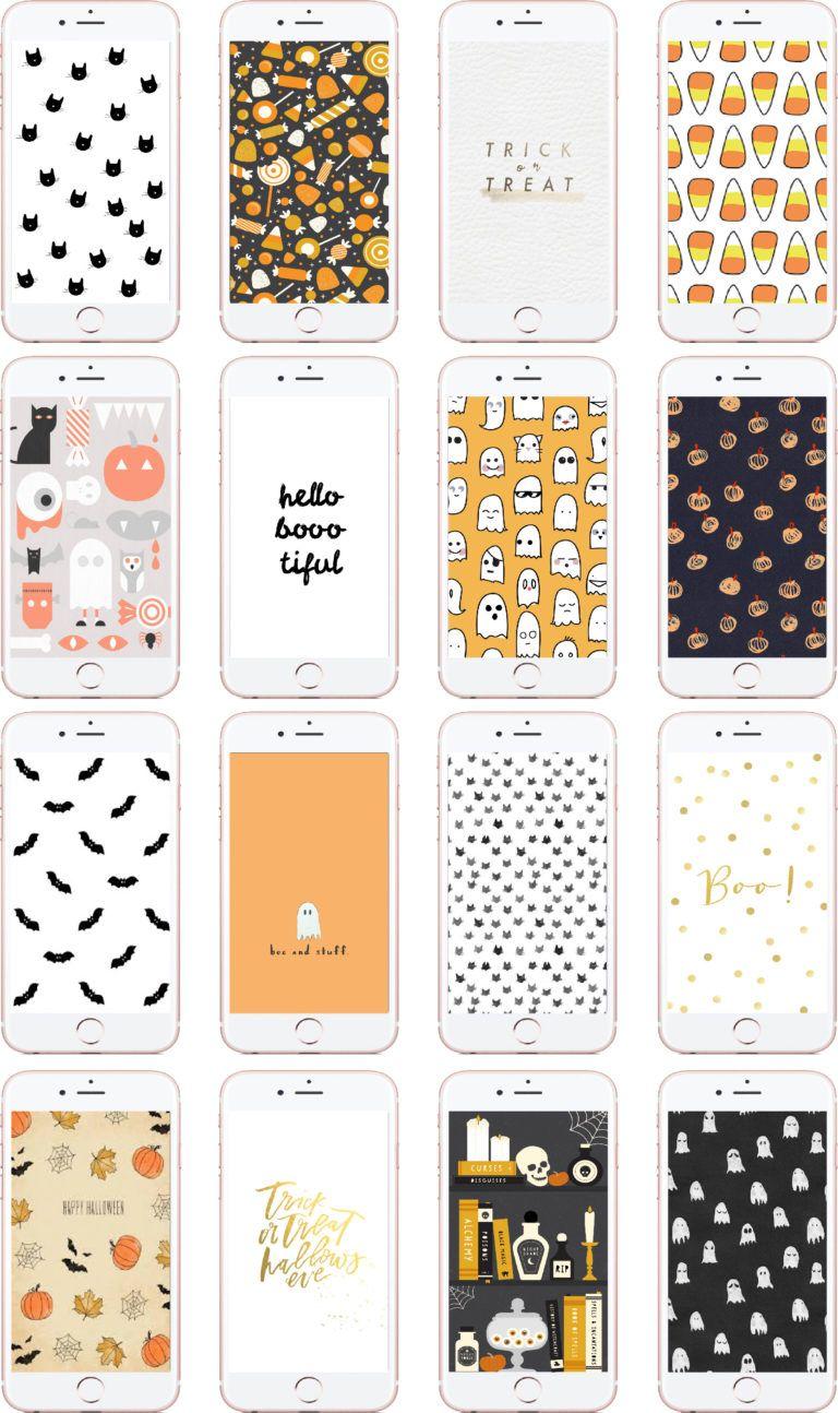 16 Festive iPhone Wallpaper Designs for Halloween #falliphonewallpaper