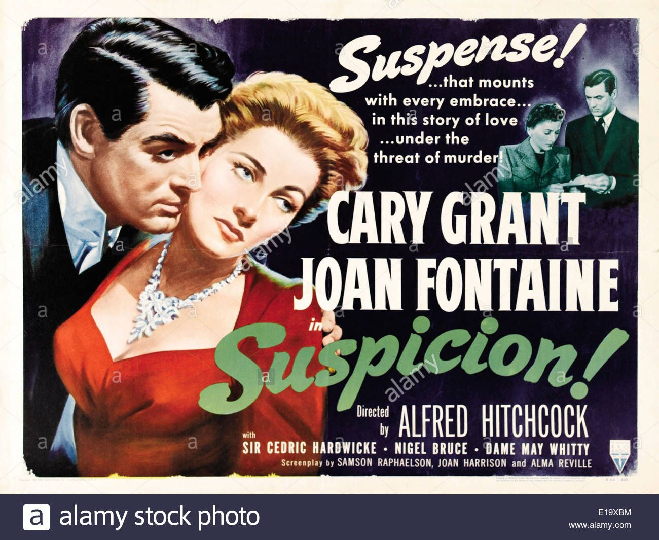 Suspicion - Movie Poster - Director : Alfred Hitchcock - 1941 ...