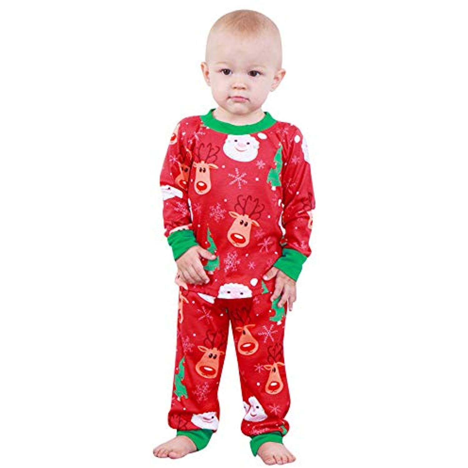 Sagton Toddler Children Boys Girls Christmas Outfit Long Sleeve Santa Deer  Print Tops Pants     To view further for this item 9d240a5c4