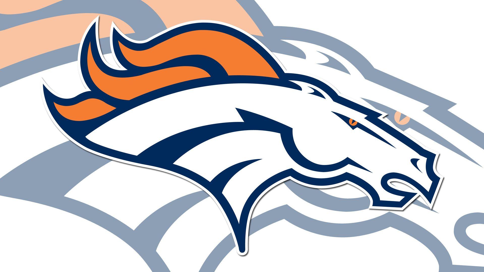 Denver Broncos NFL Denver Broncos Logo White 1920x1080