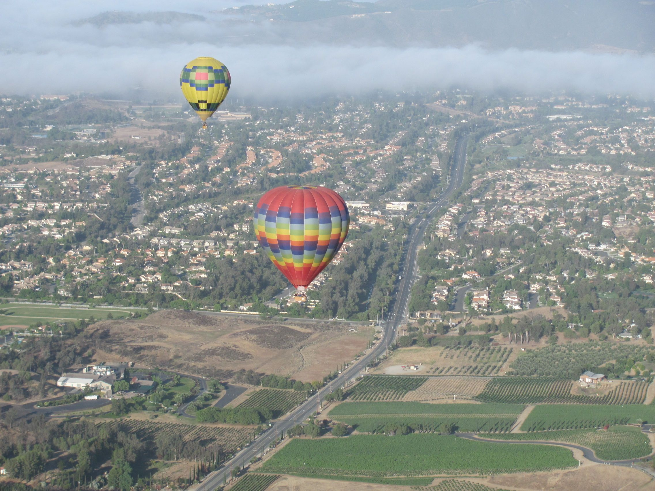 The Grape Escape ,Hot Air Balloon Ride, Temecula.Ca. The