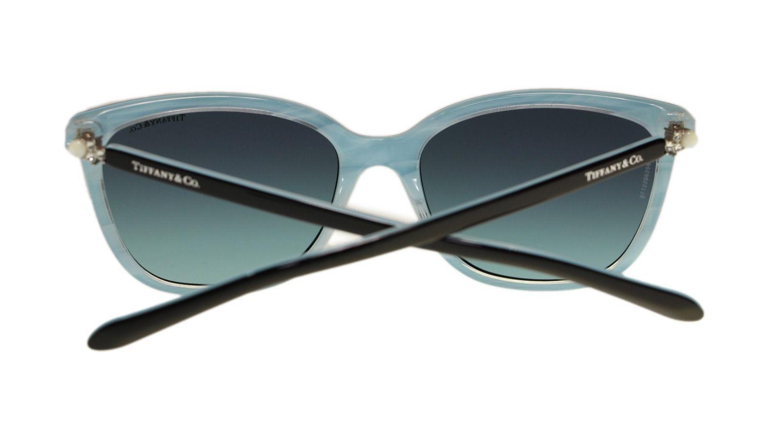 615e4ea36f7 TIFFANY   CO TF4105 81939S Black Blue Square Women s Sunglasses 55mm  Authentic 4