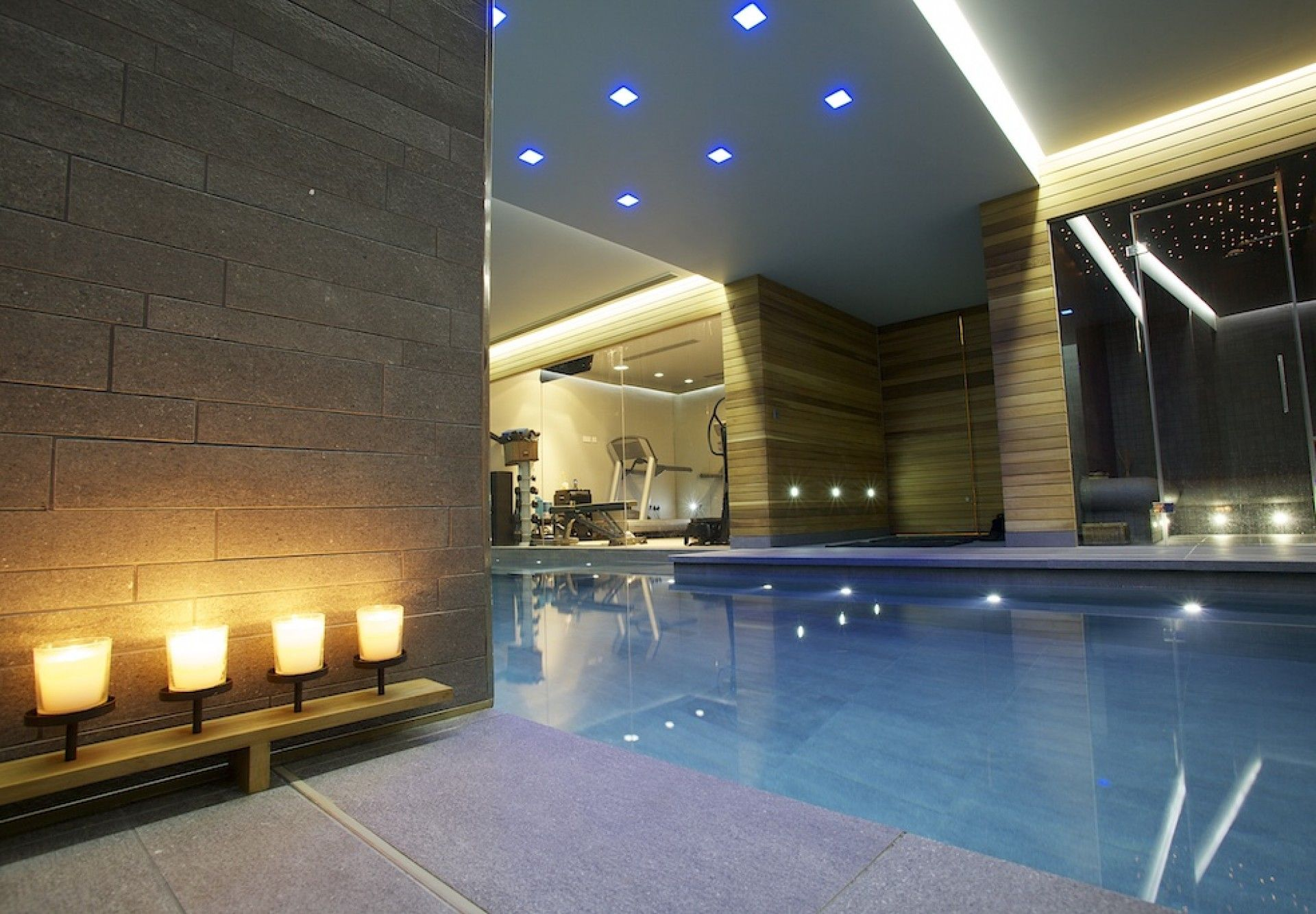 Basement indoor swimming pool in london home spa for Basement swimming pool ideas
