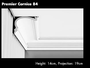 Premier Cornice 84 You can use standard cornice to build a