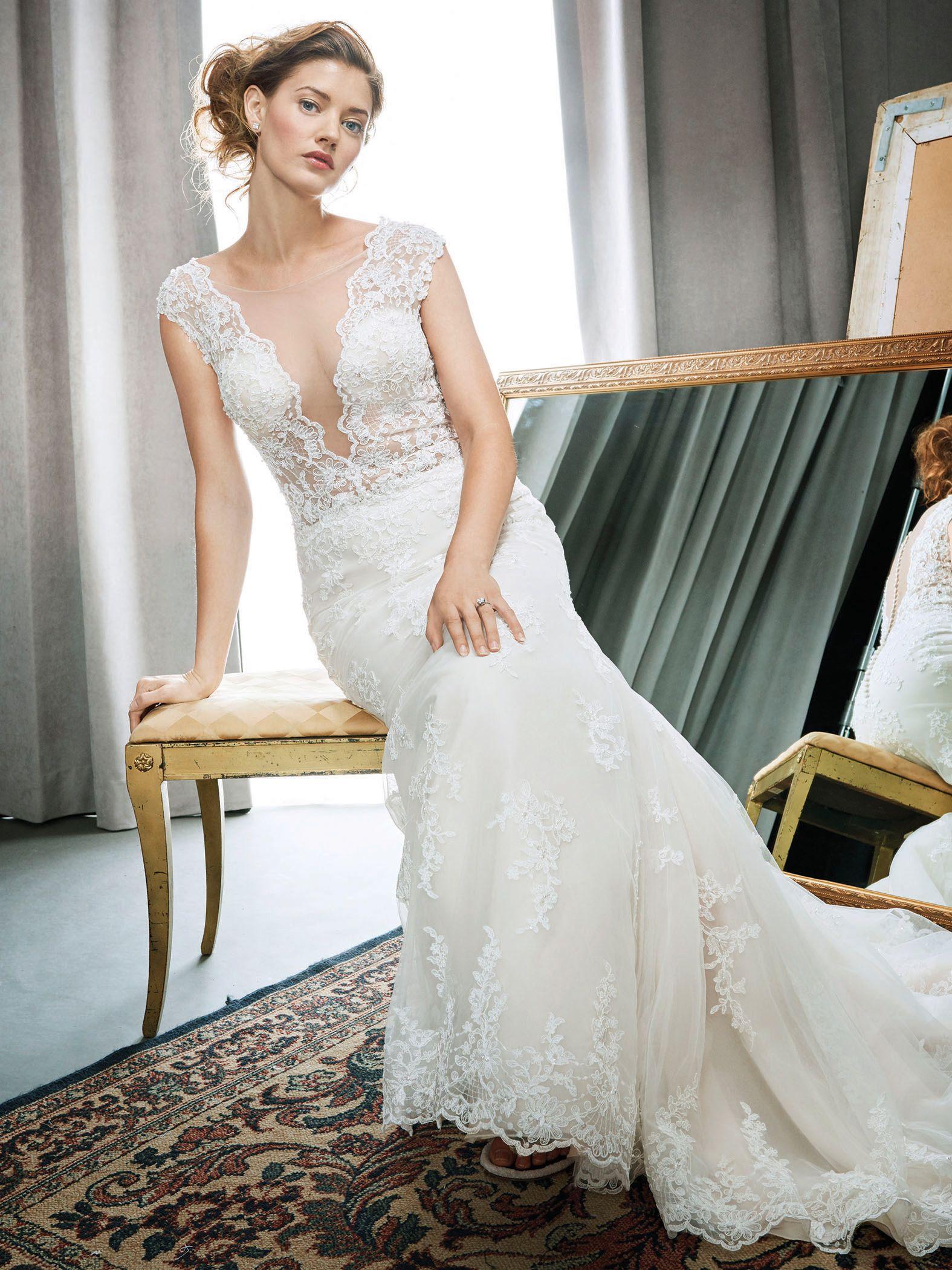 Kenneth Winston Style 1692 | stunning wedding dress with illusion ...