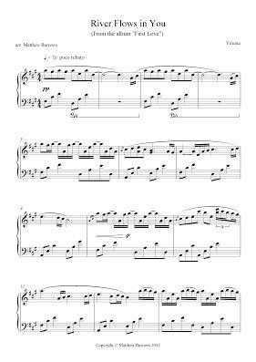 Yiruma River Flows In You Matt Burrows Music River Flow In