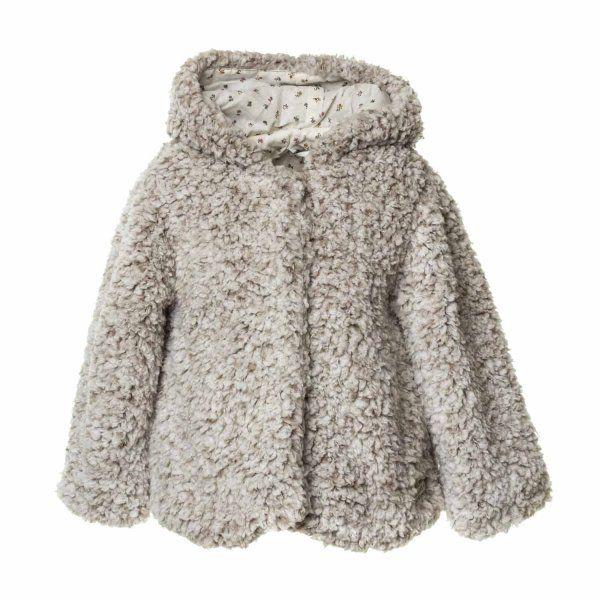 Soffice cappotto in eco-pelliccia orsetto grigio perla firmato Tocoto  Vintage bf520756366