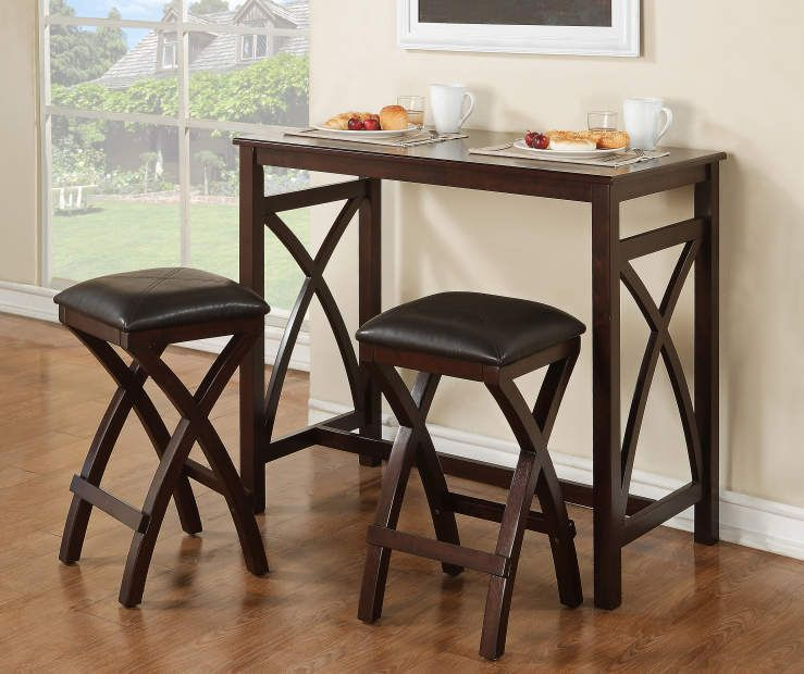 3 Piece Dining Set Table 2 Chairs Bistro Pub Home Kitchen Breakfast... | eBay & 3 Piece Dining Set Table and 2 Chairs Dinette Kitchen Breakfast Pub ...