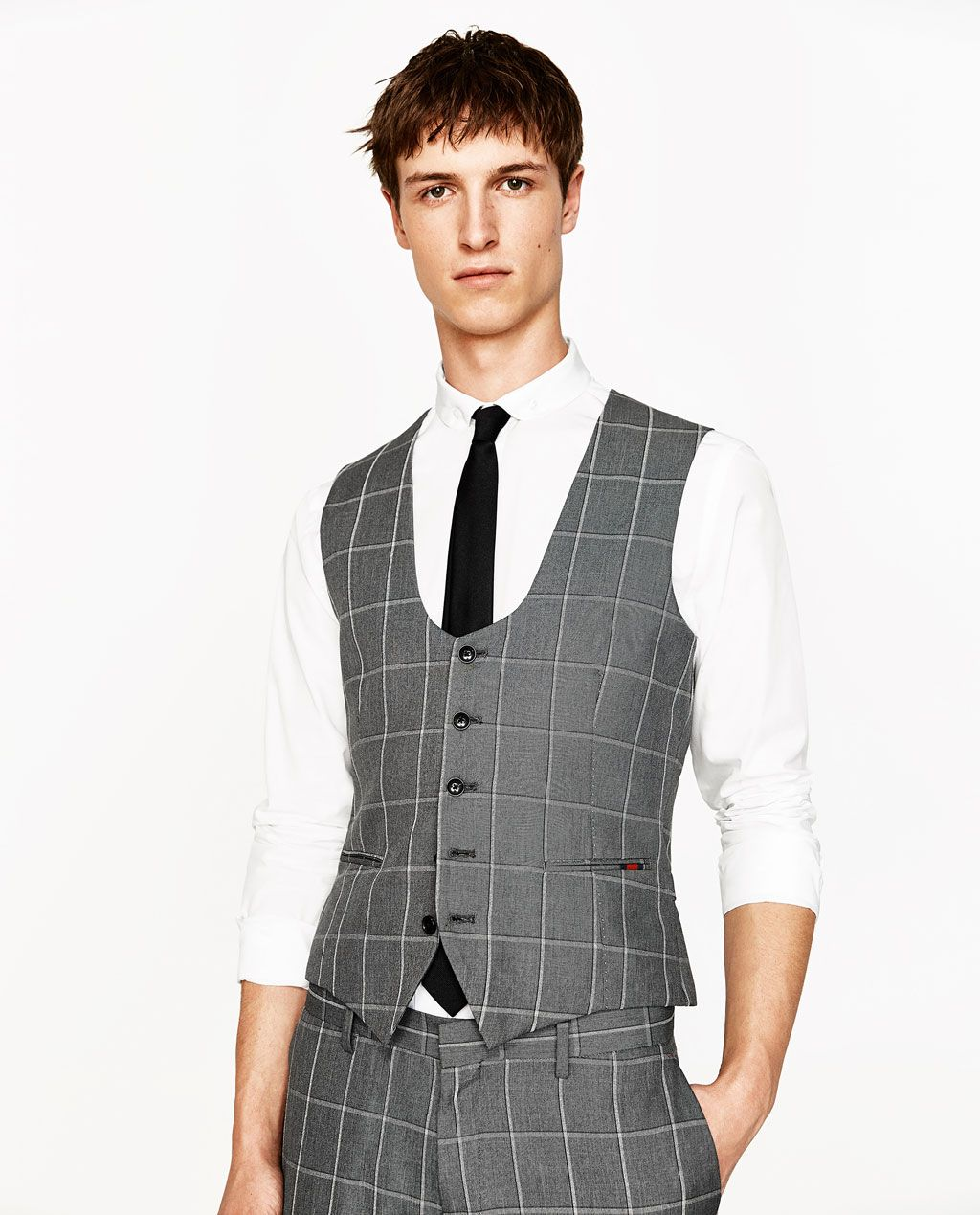 CHECKED SUIT WAISTCOAT