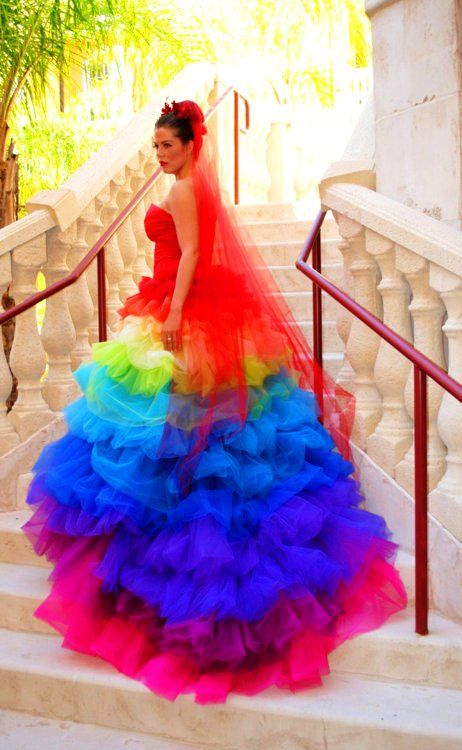 Cool Colorful Strapless Wedding Dress #colorful #wedding #dress www ...