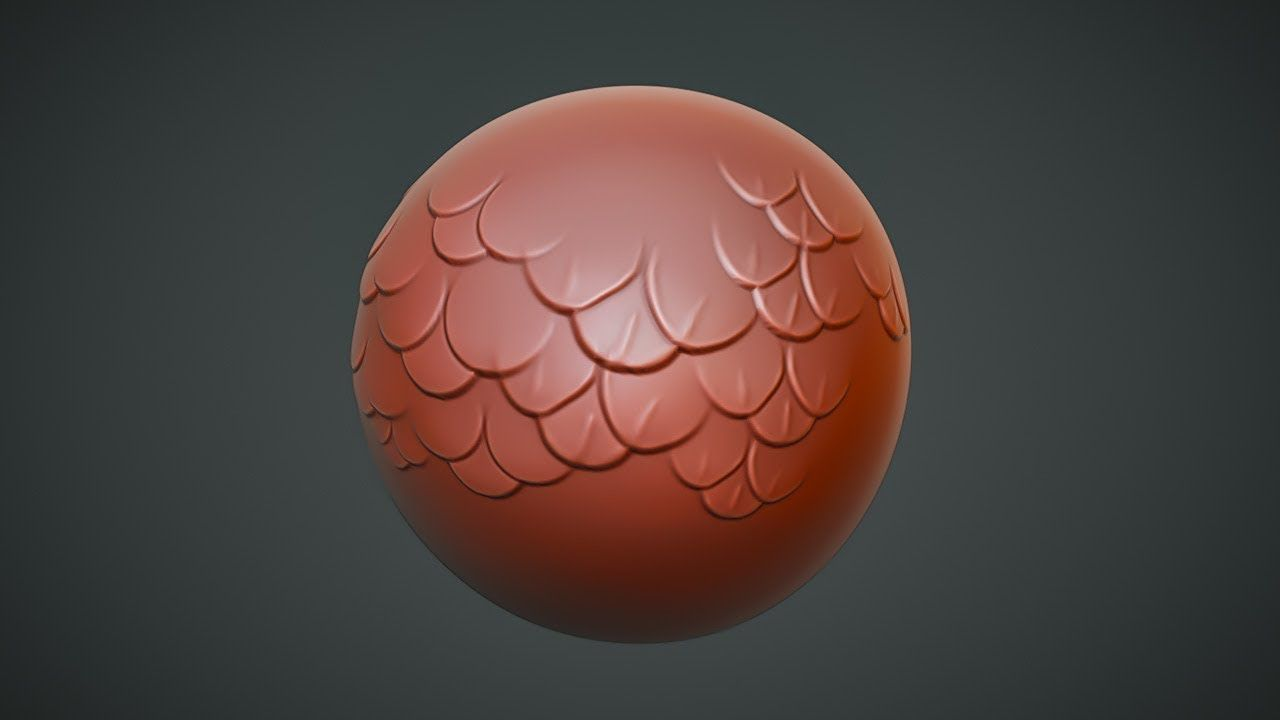 CGC Classic Sculpting Scales with a Custom Alpha Map