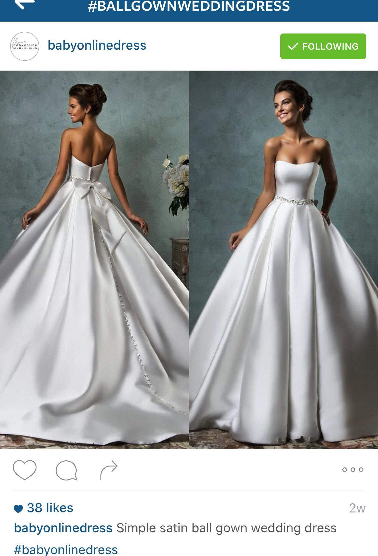 Satin Ballgown Wedding Dress Simple Wedding Dresses Satin Wedding Dresses Satin Wedding Dress Ballgown [ 1826 x 1242 Pixel ]